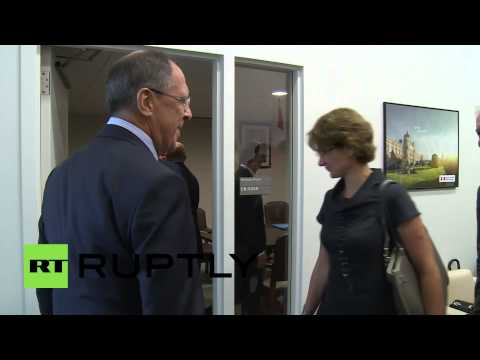USA: Lavrov shares joke with Swiss president Burkhalter