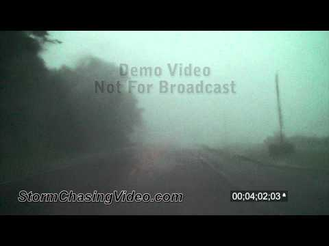 6/26/2010 Driving in high winds and heavy rain B-Roll stock footage.
