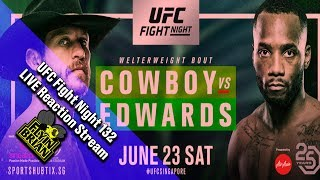 UFC Fight Night 132 Full Video Live Reaction Stream : Donald 'Cowboy' Cerrone Vs. Leon Edwards
