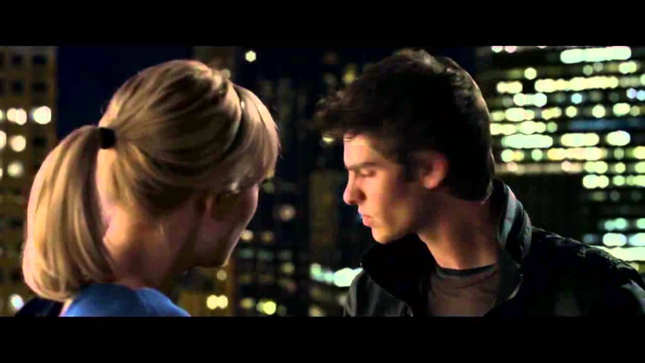 The Amazing Spider-Man - Rooftop Kiss Scene [HD] - YouTube
