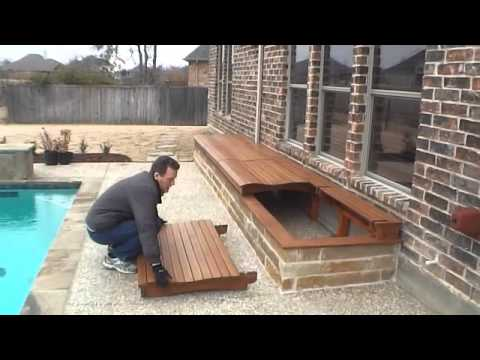 Outside Storage Box for Pool Deck - YouTube