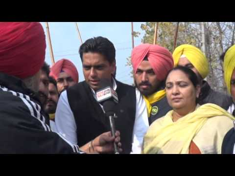Amarpeet Lally president punjab youth congress interacting with media