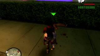 Mi Gta San Andreas:D peleando con los ballas :B