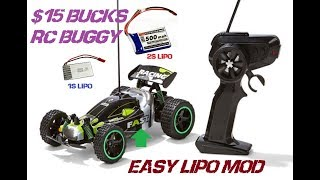 KMART $15 RC BUGGY EASY LIPO BATTERY MOD