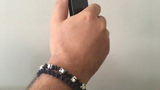 Frivolite pulseira masculina, pulsera hombre de punto, men acesory