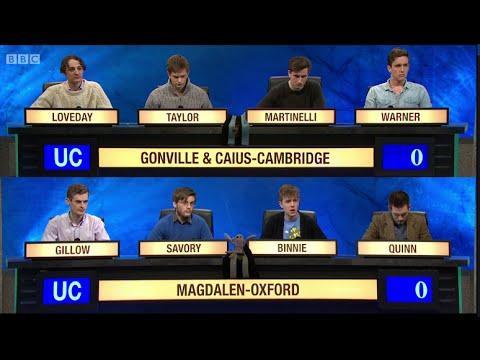 University Challenge S44E31 Gonville and Caius, Cambridge vs Magdalen, Oxford