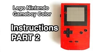 Lego Gameboy Color Instructions Part 2 of 2