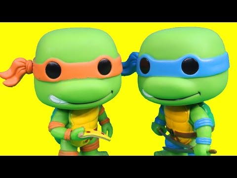 Pop Teenage Mutant Ninja Turtles Tmnt Turtle Van Raphael Leo Mikey Donnie Splinter Shredder Toys video