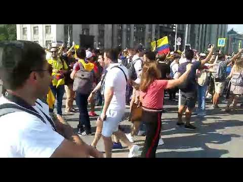 Torcida da Colômbia faz a festa na Rússia