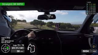 Laguna Seca 2019-04-20 E90 M3 Harry Laptimer GoPro Hero5 Black RaceRender Shakedown