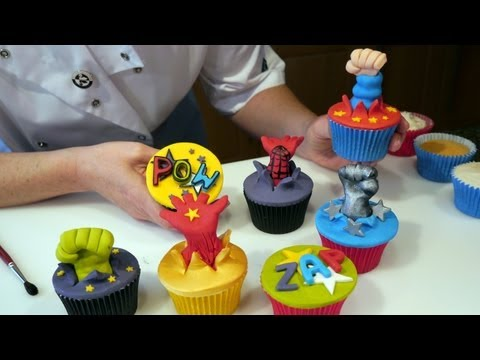 Spiderman, Superman, Batman, Incredible Hulk - Superhero Cupcakes - Cake Craft W