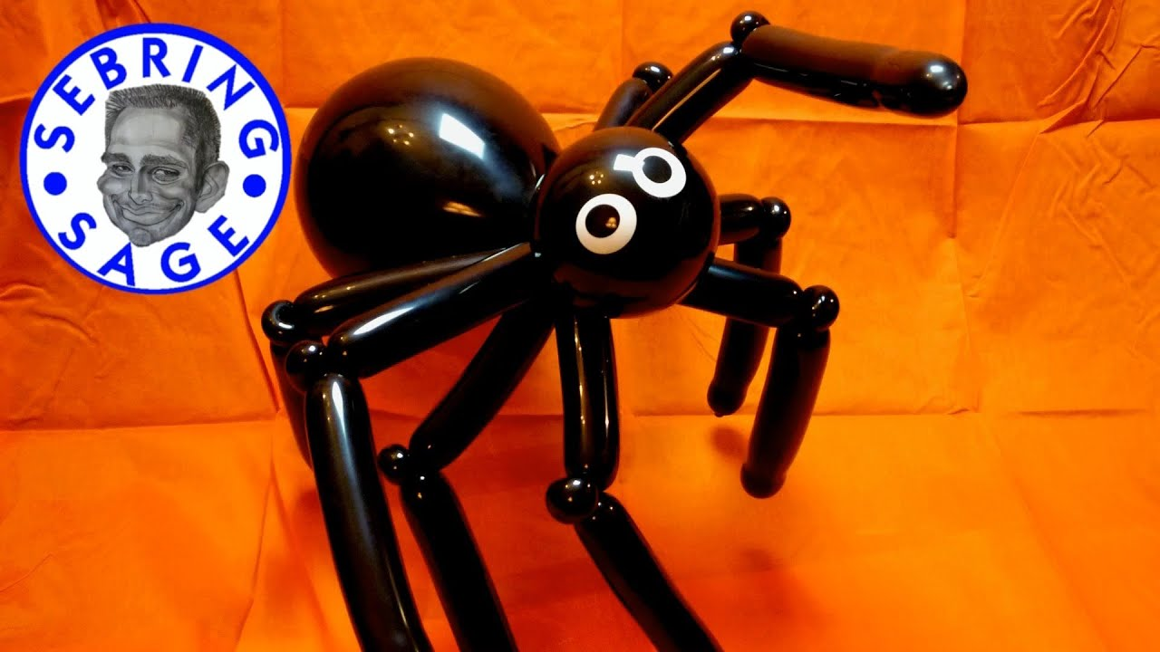 halloween giant spider balloon youtube. Black Bedroom Furniture Sets. Home Design Ideas