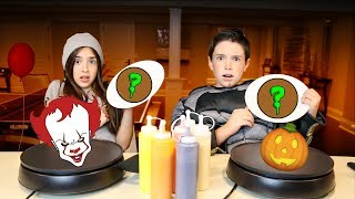 PANCAKE ART CHALLENGE!! - HALLOWEEN EDITION
