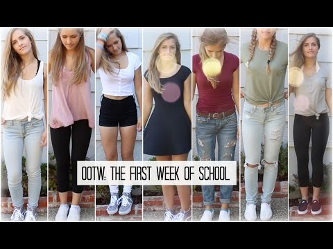 OOTW: THE FIRST WEEK OF SCHOOL // OUTFIT IDEAS