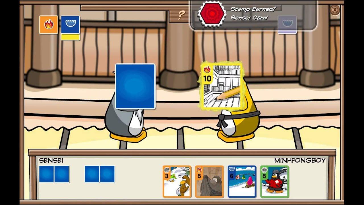 club penguin sensei card stamp hd youtube. Black Bedroom Furniture Sets. Home Design Ideas