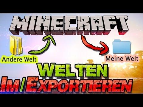 Minecraft 1.8 WELTEN (saves) EINFÜGEN / Weitergeben! - German Deutsch Mac + Win