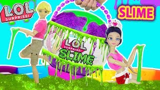 LOL de Slime Gigante | Marinette y Adrien descubren Slime LOL