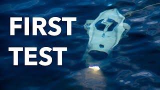 First underwater drone test