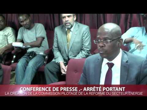 #2.-CONFERENCE DE PRESSE, SUR LA CREATION DE LA COMMISSION PILOTAGE DE LA REFORME DU SECTEUR ENERGIE