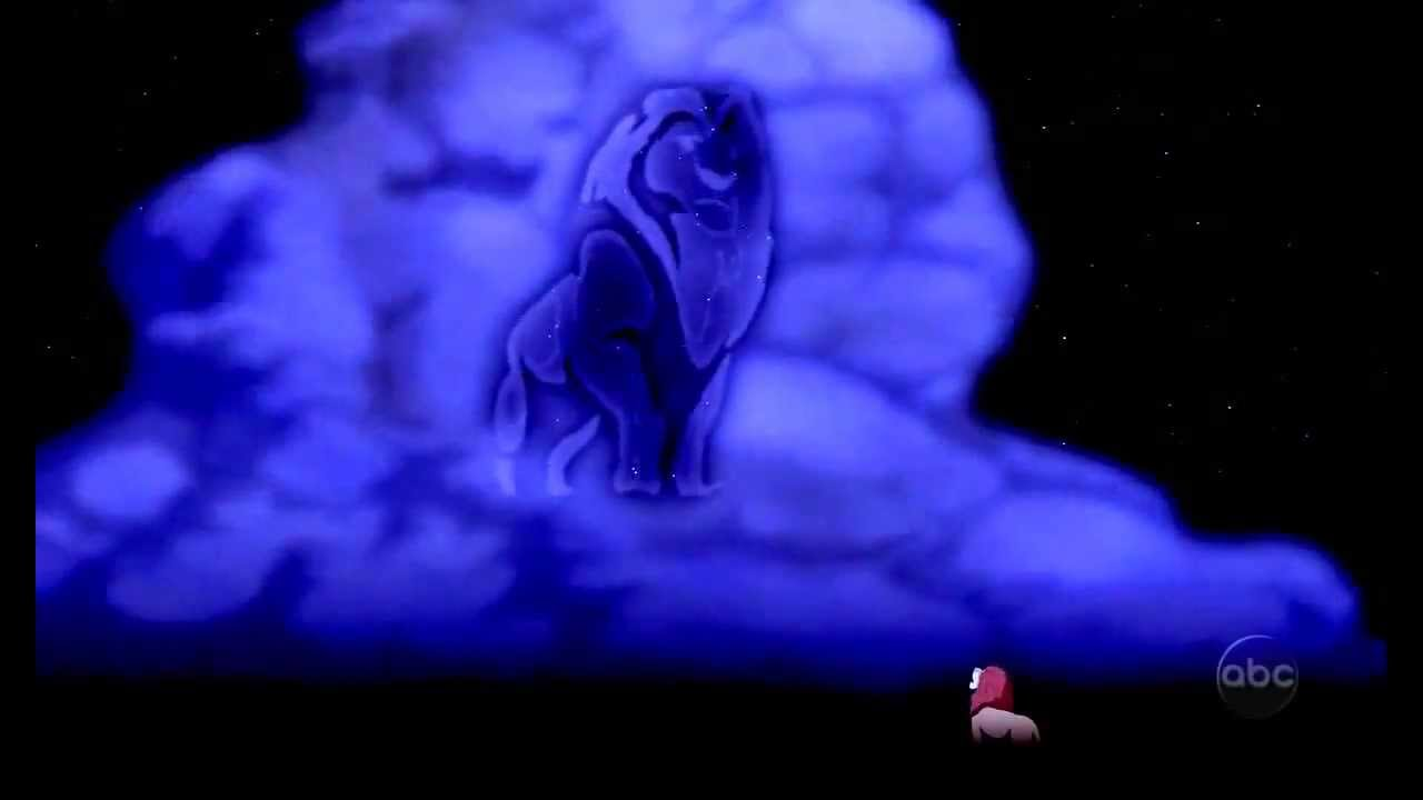 the lion king  mufasa in the clouds