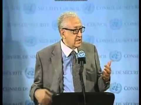 Syria   Lakhdar Brahimi Security Council Media 29.11.2012  English and Arabic.