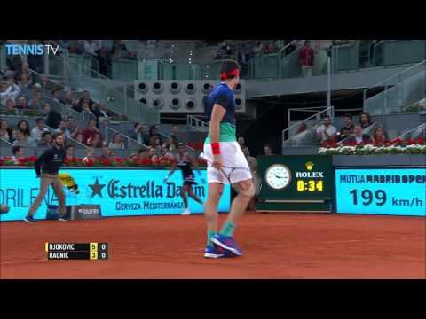 Djokovic Finds The Line Madrid 2016