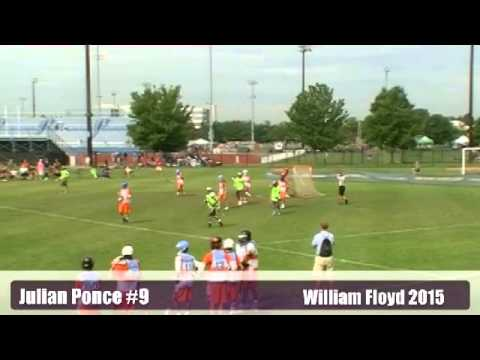 Julian Ponce #9 William Floyd High School 2015  Lacrosse Highlights.avi
