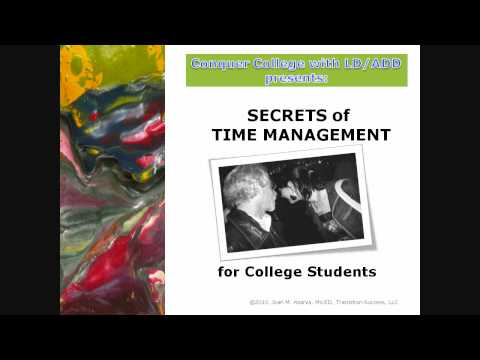 Time Management for College Students  -   [HQ]
