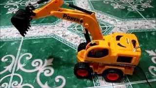 Đồ chơi trẻ em - Xe máy xúc (Children toy - The vehicle excavator)