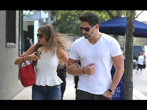 Sofia Vergara with her fiancé Joe Manganiello in Miami [Feb 28, 2015]