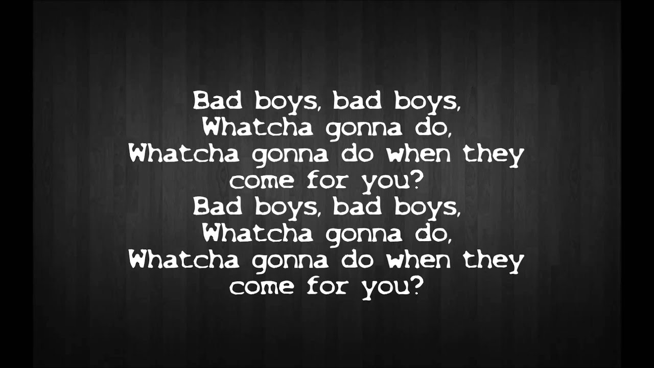 Inner circle - bad boys with lyrics(cops theme song) - YouTube