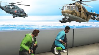 SNIPERS VS HELICOPTERS (GTA 5 Funny Moments)