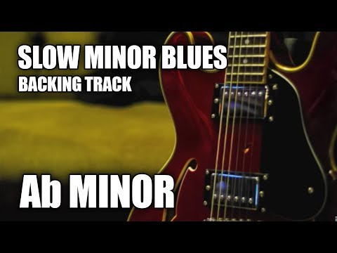 Slow Minor Blues Guitar Backing Track In Ab Minor