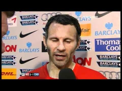 Manchester United 2-1 Chelsea - Ryan Giggs and Nemanja Vidic