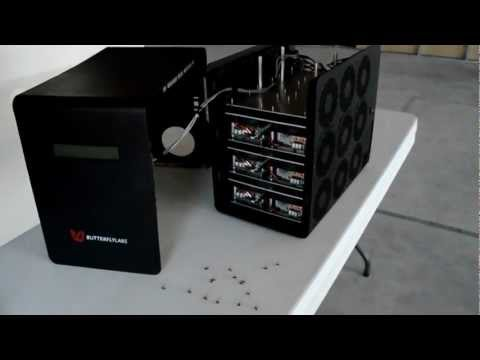 Inside the Butterfly Labs (BFL) 25GH/s 2012 FPGA Mini-Rig (NOT ASIC)