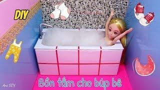 DIY How to Make a Doll Bath Tub / Cách làm bồn tắm cho búp bê / Ami DIY