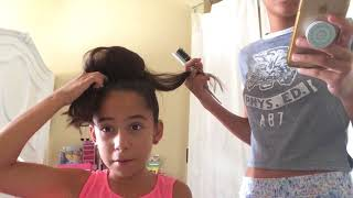Doing my sisters hair