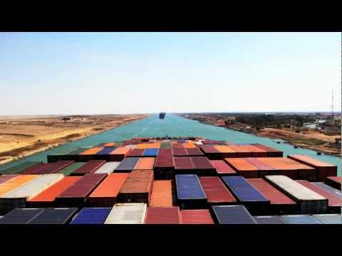 You can see in this video the transit of a 336m container vessel during her passage trough the Suezcanal in Egypt. The video shows the second part of the sou...