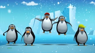Five Little Penguins | Nursery Rhymes | Kids Songs | Baby Song For Children