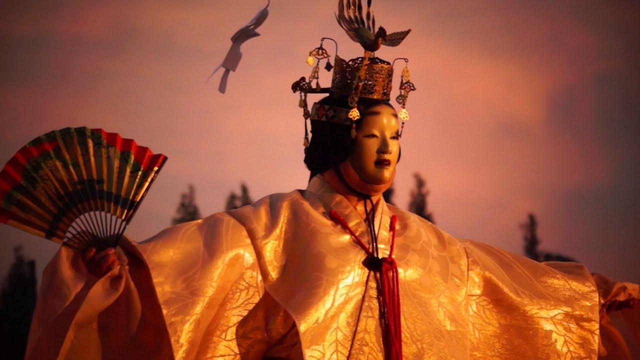 aceorloss 天神祭宵宮祭2013~奉納水上薪能、能『羽衣』 - YouTube