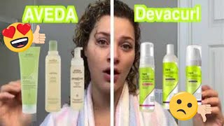 AVEDA BE CURLY VS DEVACURL | CURLY HAIR PRODUCT BATTLE