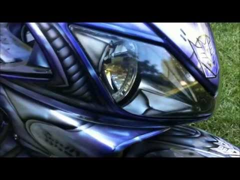 Autobot and Decepticon Transformer customized bikes / motorcycles war for cybertron