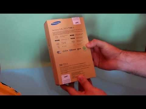 Unboxing Tablet Samsung Galaxy Tab 3 T2110 Android 4.1 Wi-Fi e 3G 7 + 8GB - Brasil
