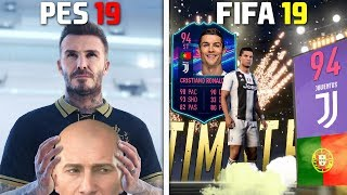 FIFA 19 vs PES 2019 Pack Opening Animation!