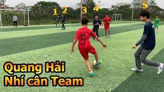 Thử Thách Bóng Đá sân 7 Quang Hải Nhí cân team đối đầu đội Real Madrid nhí Việt Nam
