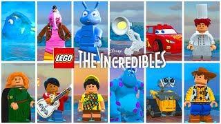 TODOS OS PERSONAGENS DA DISNEY PIXAR no LEGO Os Incríveis #59 Dublado Português