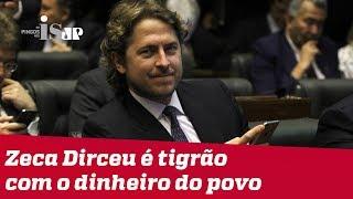Zeca Dirceu é tigrão com o dinheiro do povo