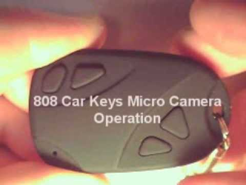 808 Car Keys Micro Camera - Operating Instructions