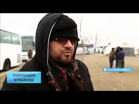 Thousands Stranded: Thousands stranded near Greece-Macedonia border without food and shelter
