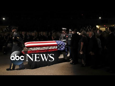 Mourners line streets, highways for say farewell to McCain